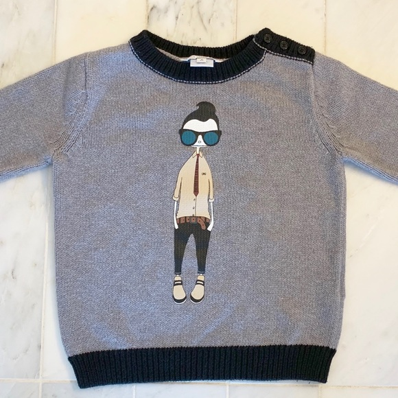 Little Marc Jacobs Other - Little Marc Jacobs grey hipster sweater - 4 years